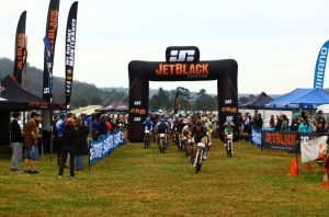 Race start at the JetBlack WSMTB 12 Hour race. Photo: Rocky Trail