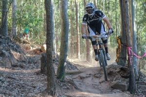 Brad Kelly wins on his home track at Ourimbah State Forest. Photo: Jaime Black