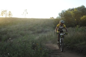 Jason English out on the JetBlack 24 Hour morning lap at The Australian Botanic Garden, Mount Annan in 2011. Photo: The Roost