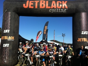 Race start at the JetBlack WSMTB 12 Hour racing – Australian endurance mountain bikers assemble to race and train together ahead of the 24 H Solo World Champions in Canberra later in the year. Photo: Rocky Trail