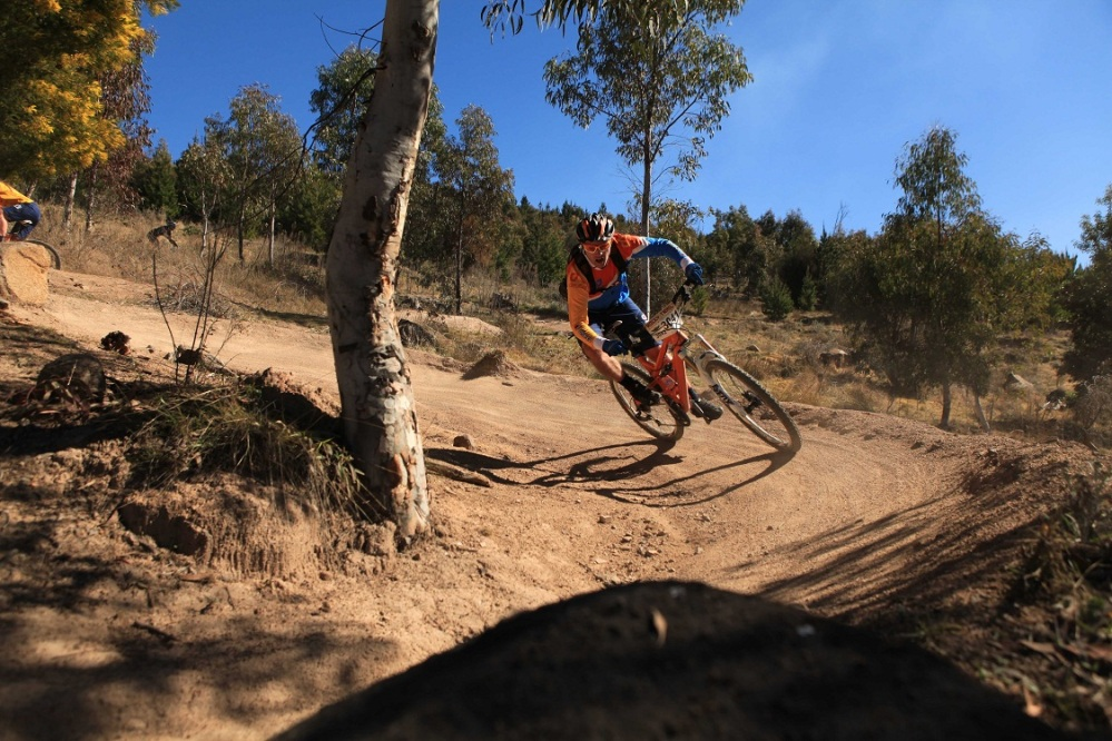 Section on Luge - big berms await you. Photo: Deubel Bicycles