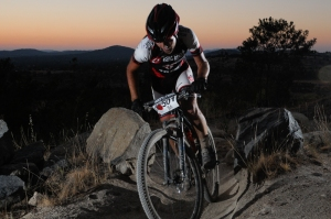 Ed McDonald pushing hard right from the start - rewarding morning lap at Stromlo Forest Park. Photo: OuterImage.com.au