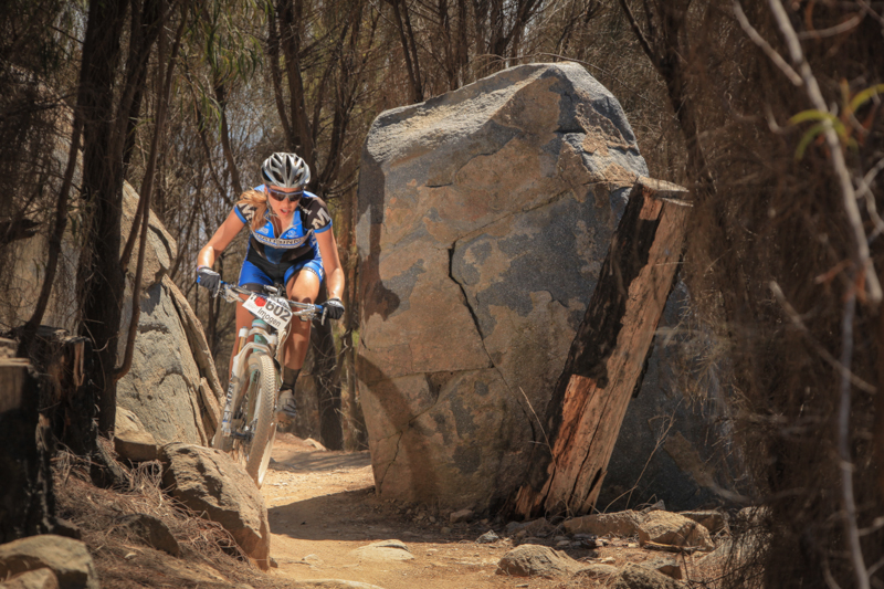 Squeeze through Echidna Gap - right after the SHIMANO Track 2 start. Photo: OuterImage.com.au