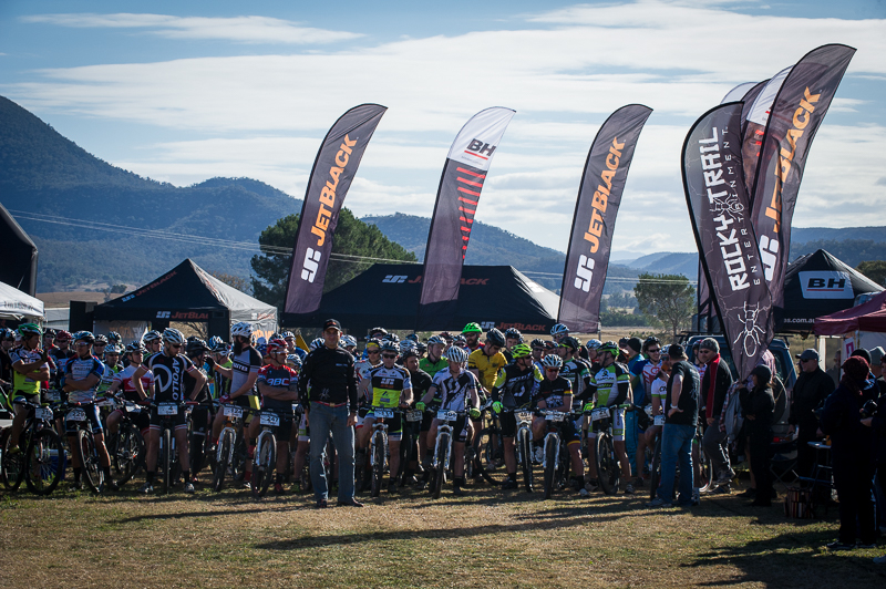 Line-up for the start of the 2014 JetBlack 12 Hour event at James Estate.