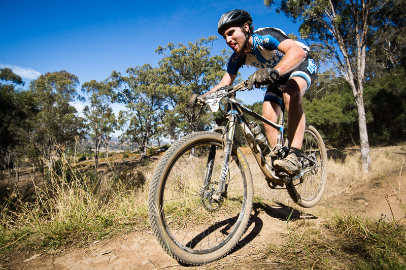 Ed McDonald persists on the challenging track at Mount Annan in the lead up to the Australian 24H Solo National Championships with Rocky Trail in November.  Photo: OuterImage.com.au