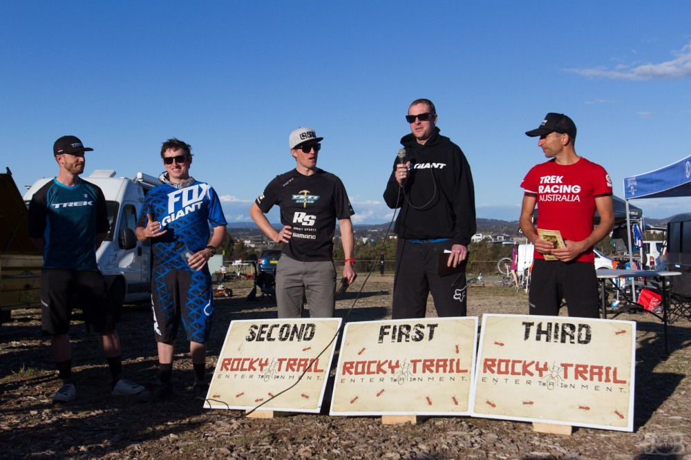 Elite Male poidum (l-r): Ryan Walsh, Tim Eaton, Dan MacMunn, Ben Cory and Dylan Cooper. Photo: Jaime Black / JB Photomedia
