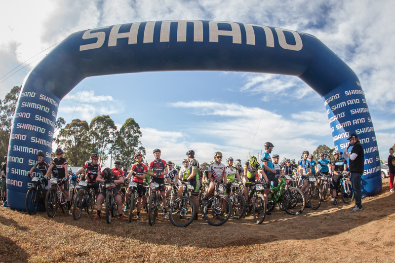 Record-field at Round 4 of the SHIMANO MTB GP at Mt Annan. Photo: OuterImage.com.au