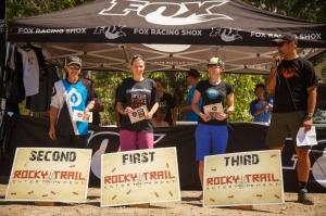 Elite Women's podium (l-r): Joanne Fox, Vanessa Thompson, Kath Bicknell.