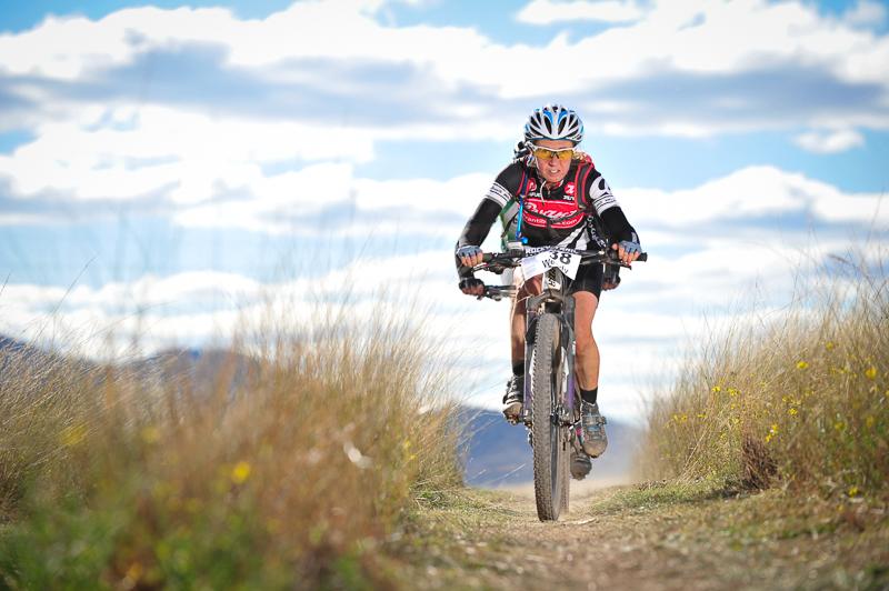 Strong racer - Wendy Stevenson, elite women's winner 2014. Photo: OuterImage.com.au