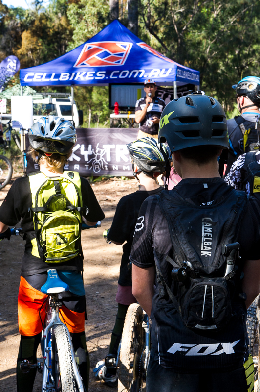 Young riders coming through the ranks and getting hooked on Rocky Trail's Fox Rollercoater #Enduro action - hydrated by CamelBak.