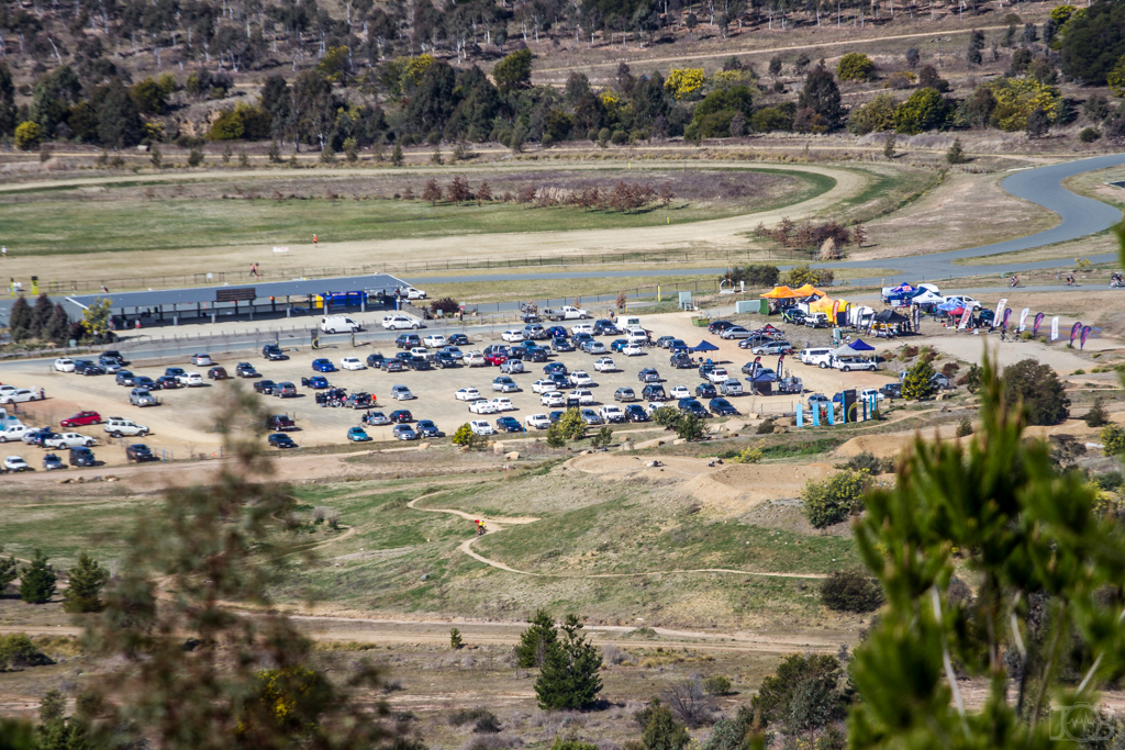 """The """"hub"""" at Stromlo Forest Park - the event centre will be located right near the main car park. Photo: Jaime Black"""