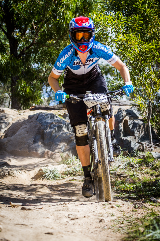 Cool rock features at Stromlo - Rosemary Barnes nails it at the 2014 event. Photo: OuterImage.com.au