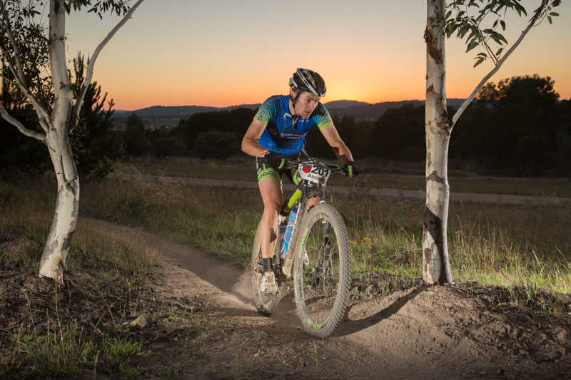 The reward: the sun-rise lap at Stromlo.