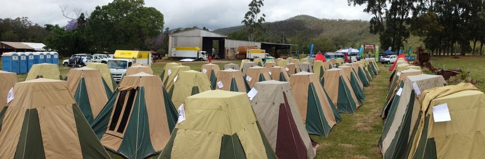 Croc tent city.