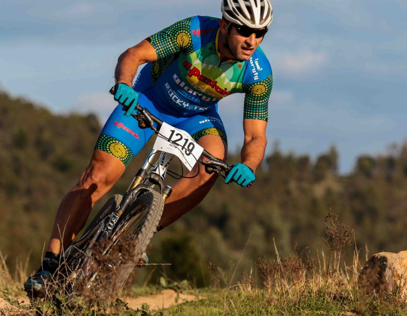 """Martin Wisata in the new Spin Cycle Clothing kit, """"Awesome material, very comfortable knicks, light - perfect for the conditions at the Crocodile Trophy!"""" Photo: David Blucher/Going Downhill Photography"""