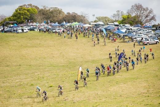 "Race start ""mega avalange-style"" - unleashing the racers out onto the track."