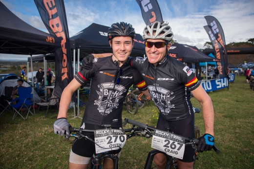 Craig Gordon (right) with nephew and up and coming endurance racer and fellow BH Bikes JetBlack team rider, Owen Gordon.