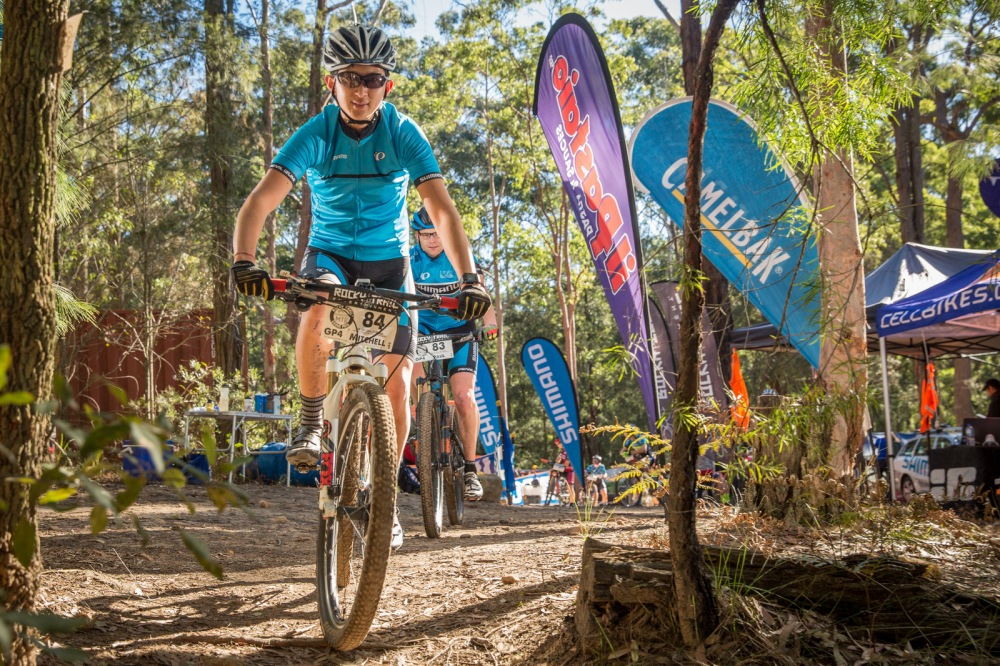 A hands-on sponsor: the Shimano Cycling Australia races the series with Rocky Trail and supports grassroots development in mountain biking.